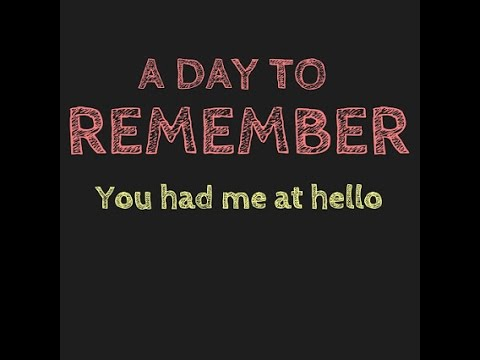 A Day to Remember - You Had Me At Hello | แปลเนื้อเพลงสากล A Day To Remember Lyrics You Had Me At Hello