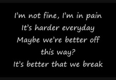 Maroon 5 - Better That We Break
